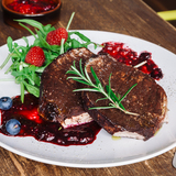Pork tenderloin with berry sauce