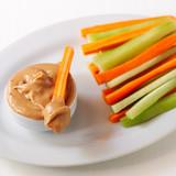 Carrot & cucumber sticks with almond butter