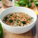 Spinach dhal with coconut milk