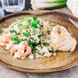 Cilantro shrimp stir-fry