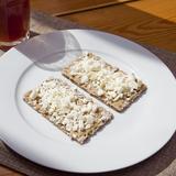Toast with tahini, feta cheese & honey