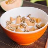 Cantaloupe yogurt with walnuts