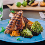 Lime & ginger lamb chops with sweet potato
