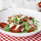 Italian rocket salad with cured ham