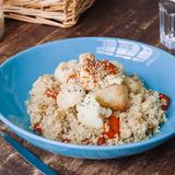 Cauliflower stir-fry with quinoa